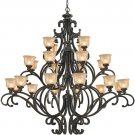 Crystorama Norwalk 24-Light Chandelier Bronze Umber