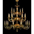 "Cortland Collection 25-Light 50"" Olde Brass Chandelier"