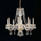 Traditional Crystal Crystal Chandelier in Polished Brass