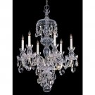 6 Light Traditional Crystal Chandelier, Chrome
