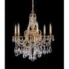 Novella Single Tier 6 light Chandelier in Olde Brass.