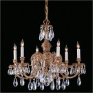 Novella 6 Light Single Tier Chandelier in Olde Brass