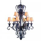Champagne Georgetown Wrought Iron Nine Light Chandelier