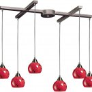 Elk Lighting Mela 6-Lt Chandelier Dark Rust fire red