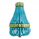 Currey & Company Lana Cupertino and Turquoise Wall Sconce