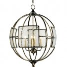 Broxton Orb - Four Light Chandelier by Currey and Company
