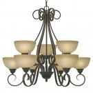 Golden Lighting - 1567-9 PC - Riverton - 9 Light Chandelier