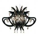 Zaneen Lighting Medusa Black 1 Light Large Pendant