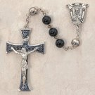 Black Onyx Men's Sterling Silver Rosary