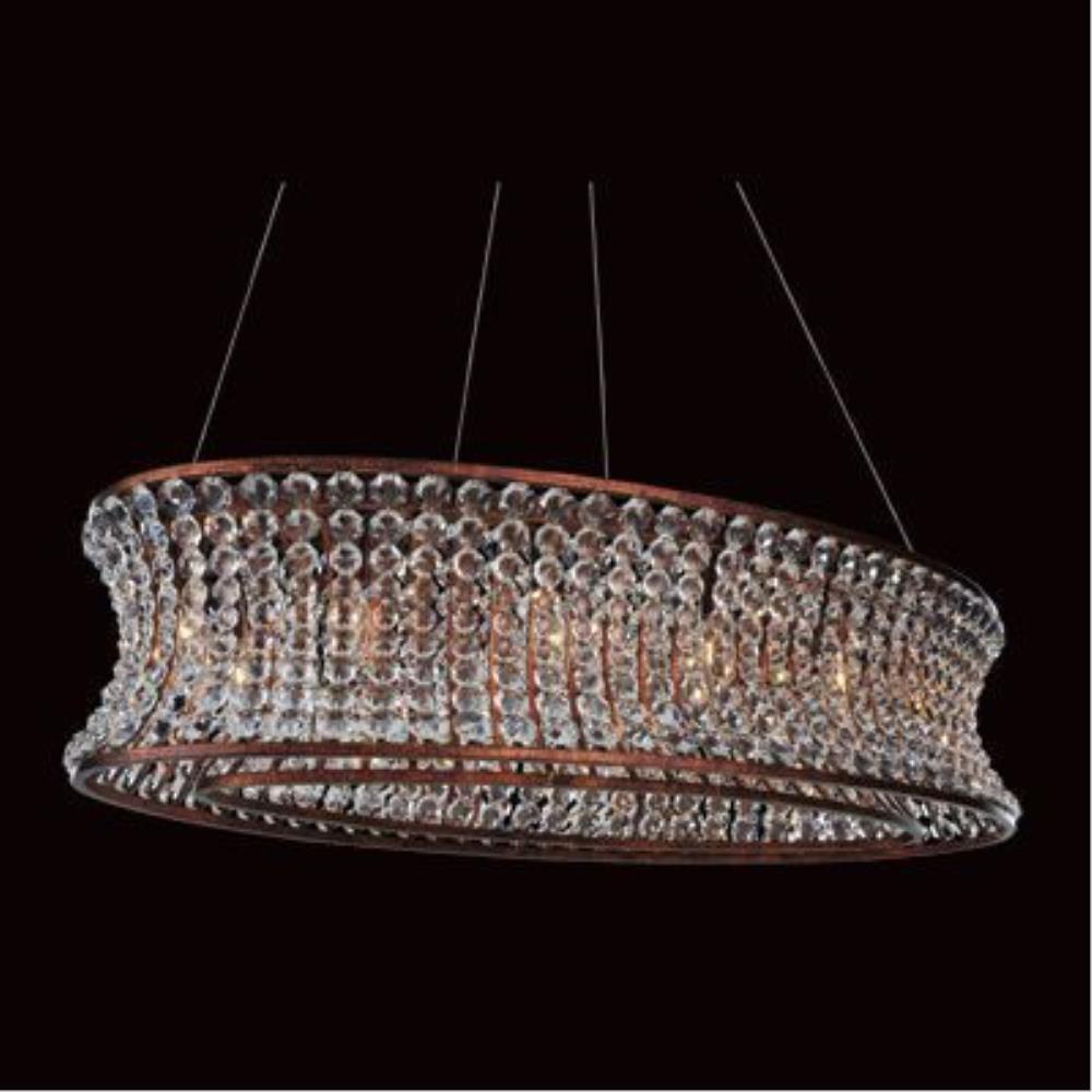 Allegri Lighting - 11733 - Corsette - Twelve Light Oval Pendant