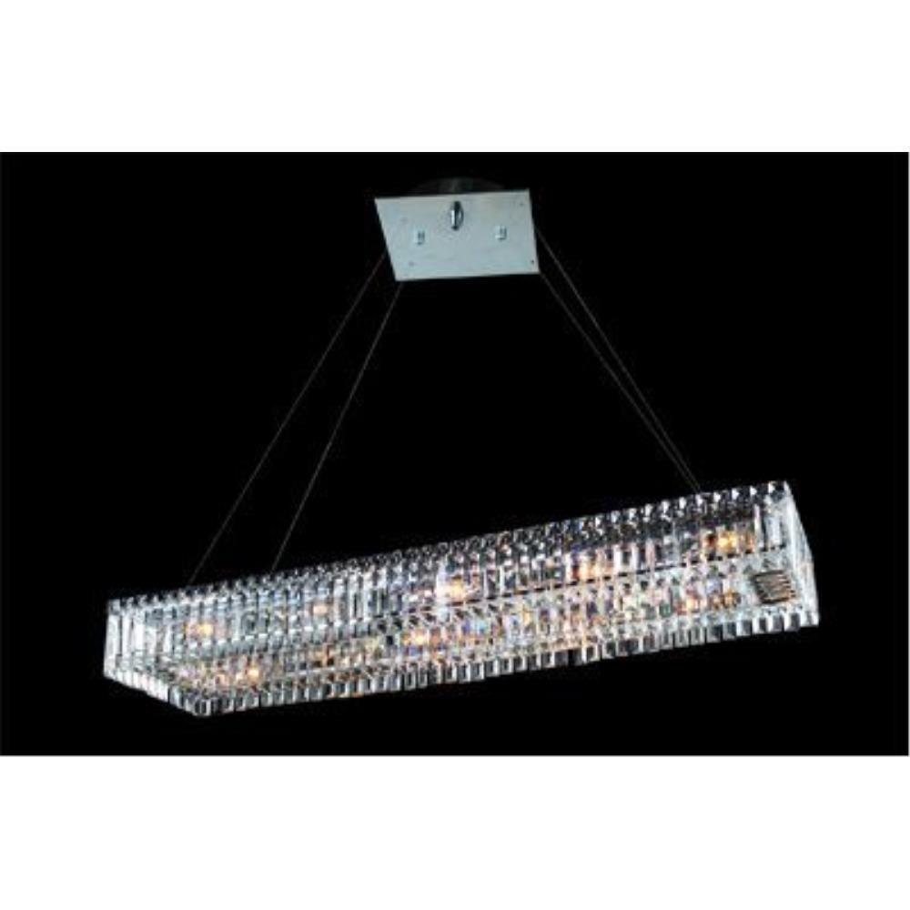 Allegri Lighting - 11709 - Quantum Baguette - Twelve Light Rectangle Pendant
