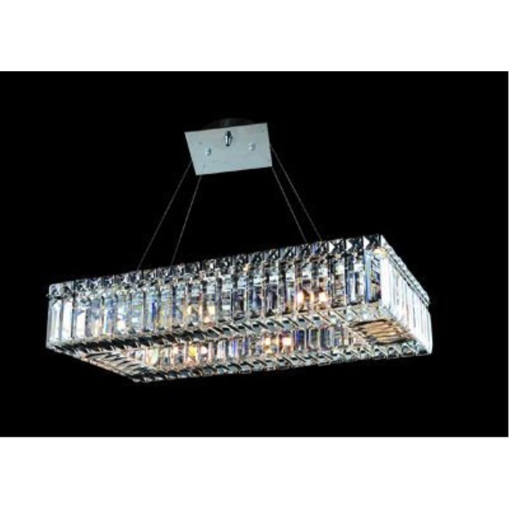 Allegri Lighting - 11707 - Quantum Baguette - Eight Light Rectangle Pendant