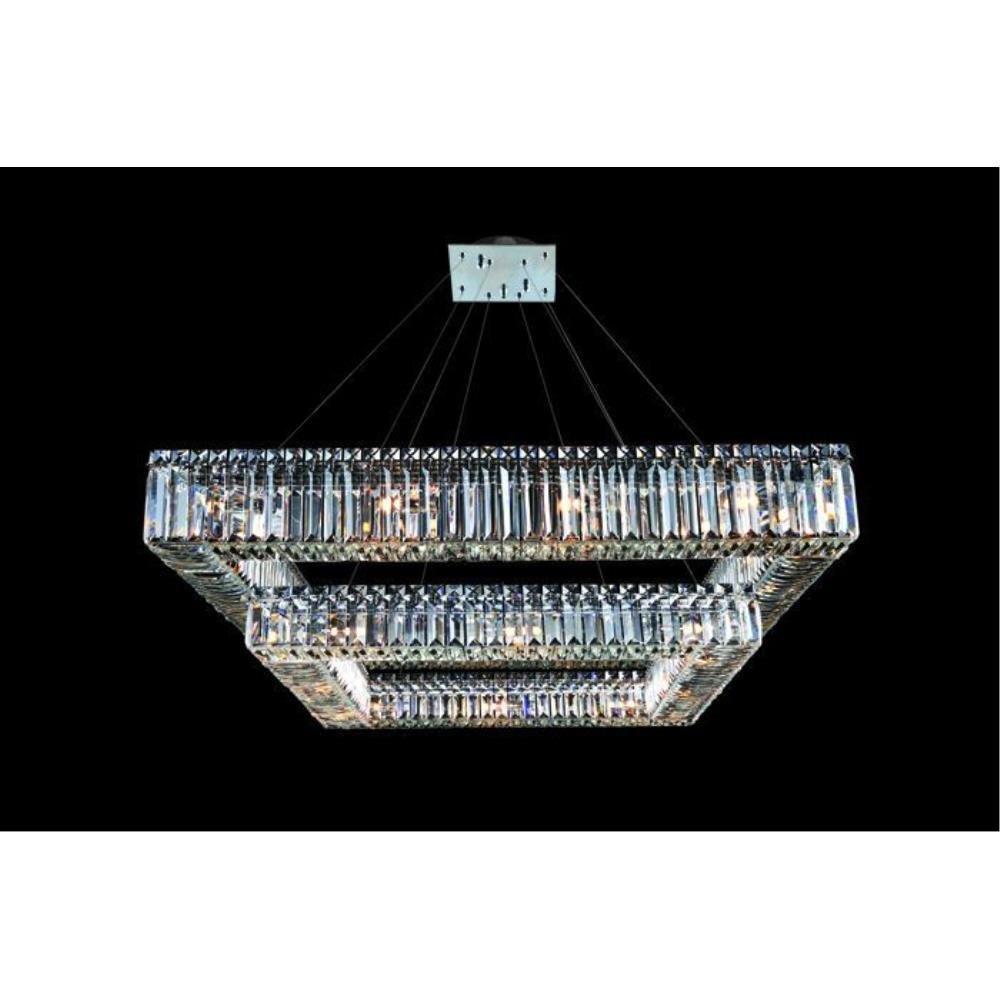 Allegri Lighting - 11781 - Quantum Quadro - Twenty-Eight Light 2-Tier Square Pendant