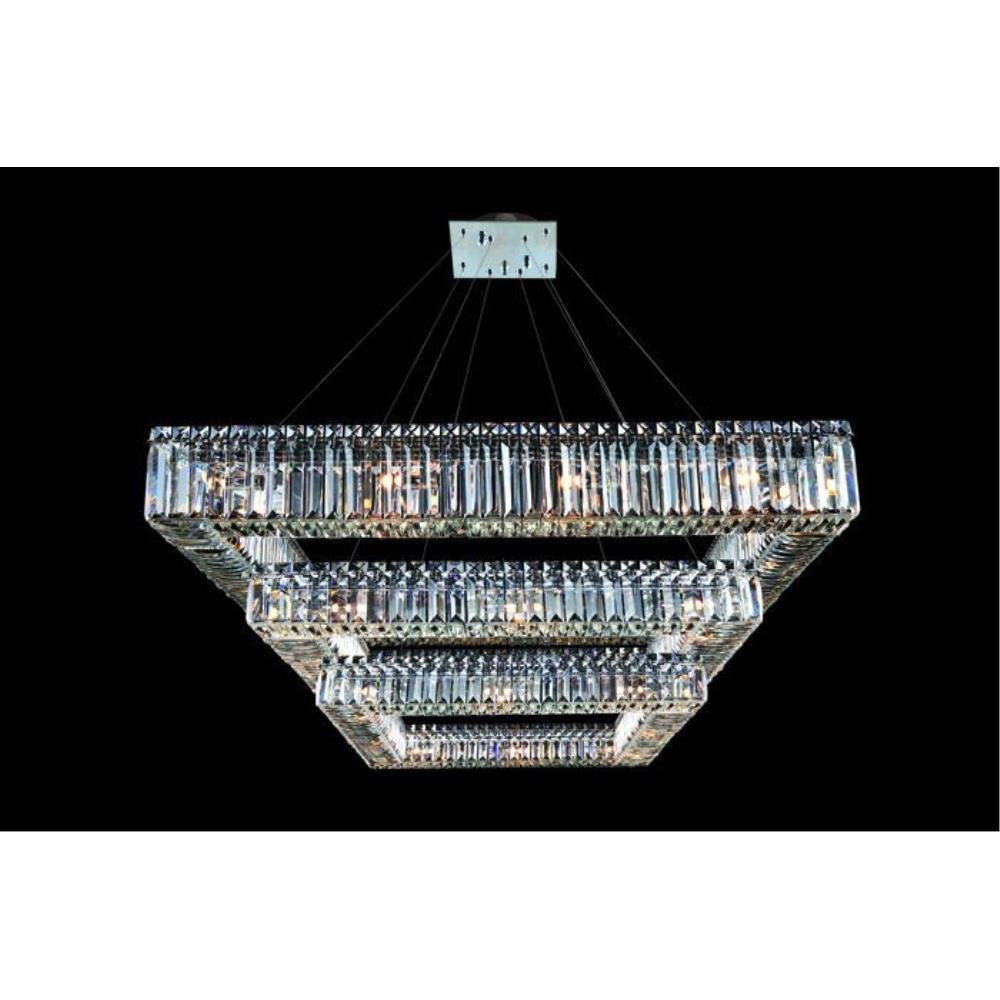 Allegri Lighting - 11780 - Quantum Quadro - Thirty-Six Light 3-Tier Square Pendant