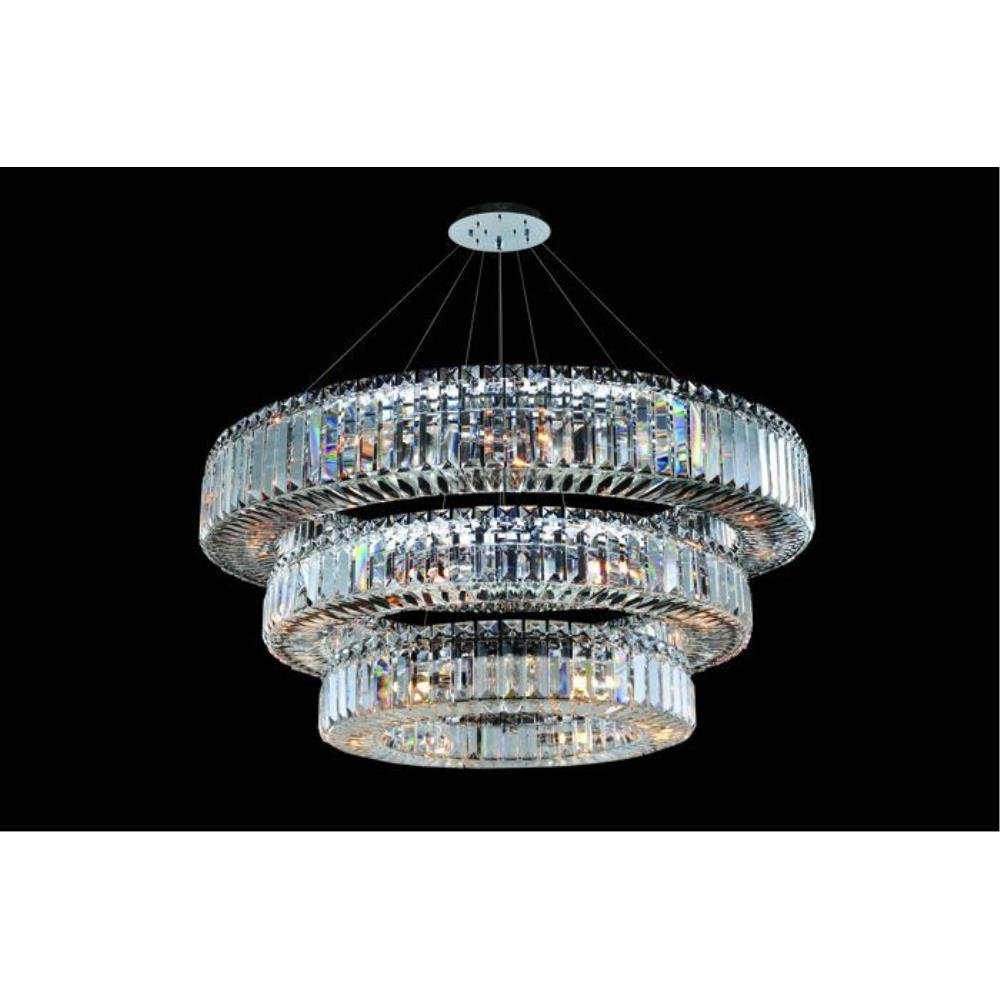 Allegri Lighting - 11770 - Quantum Rondelle - Thirty-Nine Light 3-Tier Round Pendant