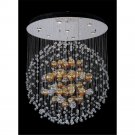 Allegri Velazquez 7 Light Flush Mount in Chrome with Firenze Clear Crystals