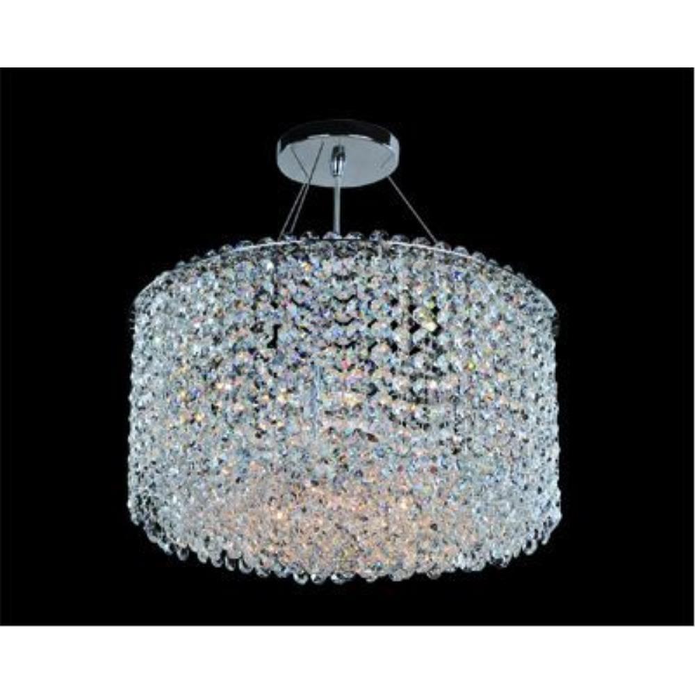 Allegri Lighting - 11668 - Milieu Metro - Six Light Semi-Flush Mount