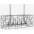 Currey and Company Fitzgerald - Five Light Rectangular Chandelier