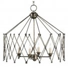 Currey and Company Accordion - Four Light Chandelier