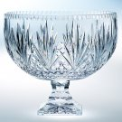Crystal Footed Punch Bowl.