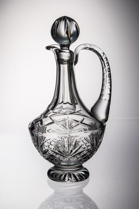 Crystal Decanter With Handle.