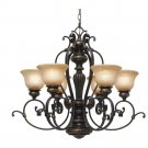 Golden Lighting - 6029-6 EB - 6 Light Chandelier