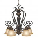 Golden Lighting - 6029-D5 EB - 5 Light Nook Chandelier