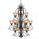 Golden Lighting - 6029-363 EB - 3 Tier Chandelier
