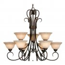 Golden Lighting - 8606-9 RBZ - 2 Tier Chandelier