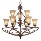 Golden Lighting - 4002-9 RSB - Loretto 9 Light Chandelier