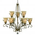 Golden Lighting - 5400-9 RG - Beau Jardin - Nine Light 2-Tier Chandelier