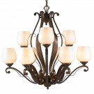 Golden Lighting - 1089-9 RSB-PRL - Pemberly Court - Nine Light Chandelier