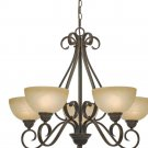 Golden Lighting - 1567-5 PC - Riverton - 5 Light Chandelier