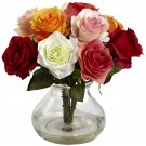 Assorted Rose Arrangement w/Vase