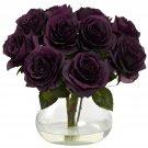 Purple Elegance Rose Arrangement w/Vase