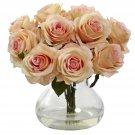 Peach Rose Arrangement w/Vase