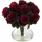 Burgundy Rose Arrangement w/Vase