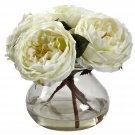 White Fancy Rose w/Vase