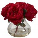 Red Fancy Rose w/Vase