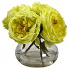Yellow Fancy Rose w/Vase
