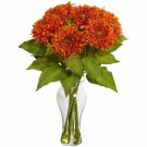 Orange Sunflower Arrangement w/Vase