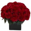 Red Carnation Arrangement w/Vase