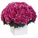 Dark Pink Carnation Arrangement w/Vase