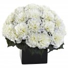 Cream Carnation Arrangement w/Vase