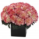 Cream Pink Carnation Arrangement w/Vase