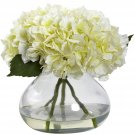 Cream Large Blooming Hydrangea w/Vase