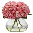 Pink Large Blooming Hydrangea w/Vase