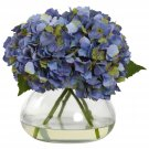 Blue Large Blooming Hydrangea w/Vase