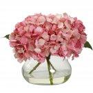 Pink Blooming Hydrangea w/Vase
