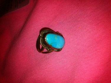 Turquoise & Silver Ring size 7 1/2